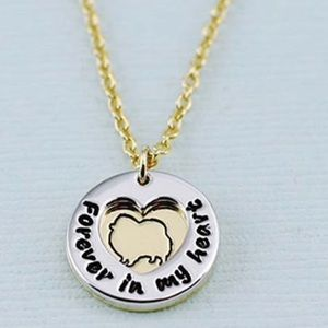 """Pomeranian """"Furever in my Heart"""" Necklace, NWT"""
